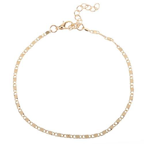 Magideal donne cavigliera braccialetto catena d'oro caviglia a piedi nudi gioielli piedi sandali spiaggia sposa prom- 24cm