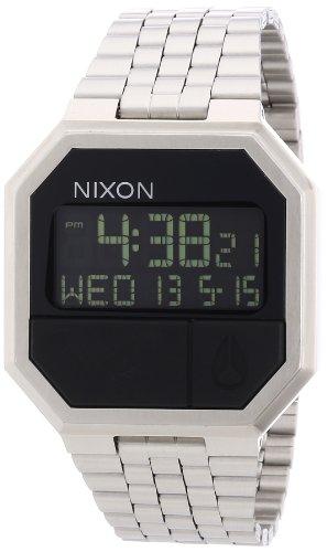 Nixon A158000-00 - Reloj digital de cuarzo unisex con correa de acero inoxidable, color plateado