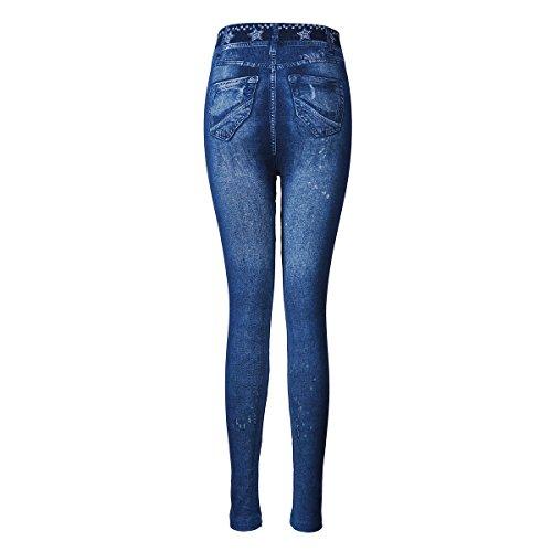 Frauen Sexy Nackt Jeggings Dehnbar Leggings Strumpfhosen Floral Jean Hose Denim - Hosen Style 3