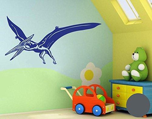 Preisvergleich Produktbild Wandtattoo Pterodaktylus B x H: 100cm x 50cm Farbe: dunkelgrau von Klebefieber®