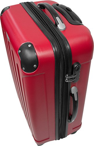 Trolley-Kofferset 3tlg. Ultra-Light - XXL-Volumen - 4 Rollen(360 Grad) Rot