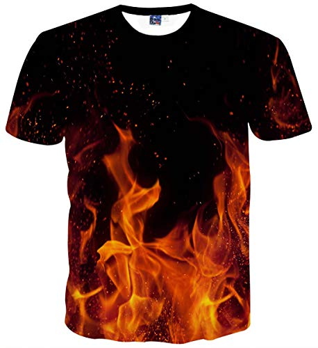 Sykooria T Shirts Jungen Teenager Tees 3D Grafik Drucken Sommer Lustig Herren Strand T-Shirts - Damen Grafik Tees