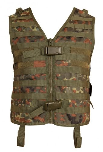 Paintball Weste pt-field Molle Flecktarn