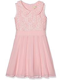 Yumi Peter Pan Collar Sequin Dress (Pale Pink, Vestido para Niños