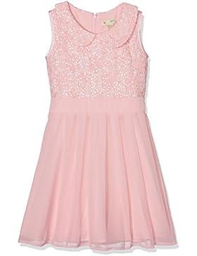 Yumi Mädchen Kleid Peter Pan Collar Sequin Dress (Pale Pink