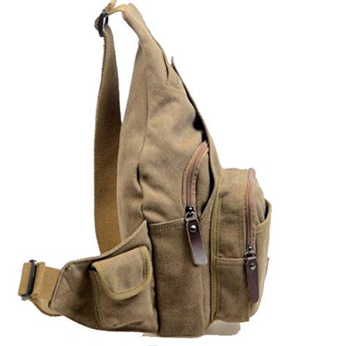 BULAGE Tasche Leinwand Mode Retro Persönlichkeit Lässig Schulter Tasche Im Freien Einkaufen Tragbar Klein Schön Brown