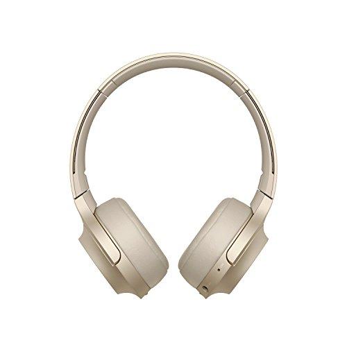 Sony WH-H800 Kabelloser High-Resolution Kopfhörer (Bluetooth, Headset-Funktion, bis zu 24 Stunden Akkulaufzeit, faltbar) Gold Bluetooth-gold Headset