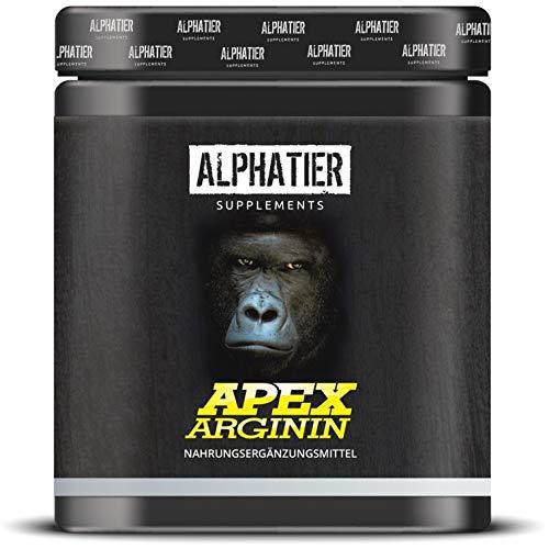 L-ARGININ BASE Kapseln hochdosiert - 99% reines ALPHATIER Arginin - 360 Caps ohne Magnesiumstearat - Pump Effekt - deutsche Premiumqualität - höchste Reinheit - Sport Supplement -