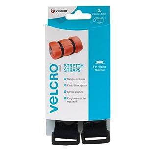 VELCRO - 2 STRETCH Straps 25mm X 68 cm schwarz - 2 Klett-Stretchgurte (B x L) 25mm x 68 cm schwarz