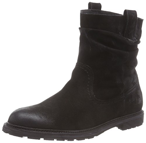 SPM Seiko Ankle Boot, Stivaletti a gamba corta senza chiusura, imbottitura leggera donna, Nero (Nero (nero)), 37