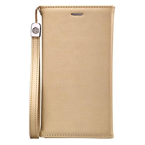 Nillkin Bazaar Geldbörse Leder-Schutzhülle für Apple iPhone 6 Goldfarben