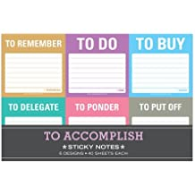 Knock Knock 12700 To Accomplish Sticky Note Packet