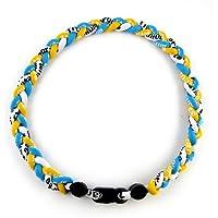 """MapofBeauty 18"""" Sport-Stil drei Farben Mode drei geflochtenen Seil Tornado Halskette"""