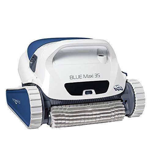 Dolphin Blue Maxi 35-Roboter Auto waschsaugern für präzise Pools (Boden und Wände) Navigationssystem Clever Clean. Mit Plattformwagen -
