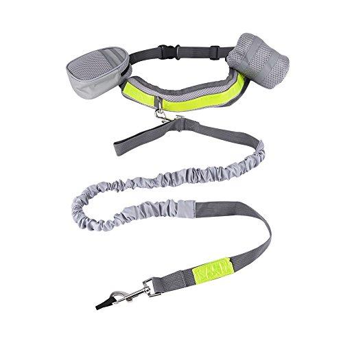 HEEPDD Hands Free Hundeleine, multifunktionale Hundetraining-Leine, ausziehbares Bungee mit Wasserbechertasche und Taillen-Rucksack, Verstellbarer Taillengürtel für Laufen, Joggen, Wandern -