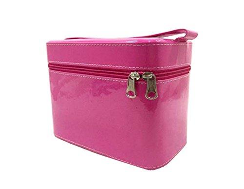 Stylish Simplicity Hand-held Cosmetic Case Grand sac de grande capacité cosmétique avec une boîte de rangement miroir ( couleur : # 4 , taille : S )