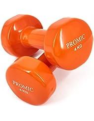 PROMIC 2x 0,5-2x 10kg Vinyl Hanteln Gewichte für Gymnastik Kurzhanteln- ideal für Aerobic & leichtes Fitnesstraining, 13 verschiedene Gewichte und Farben zur Auswahl (2er-Set)