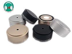 Generic Light golden : Free shipping 4PCS 49*22mm All aluminum machine feet all aluminum Power amplifier machine feet Class C