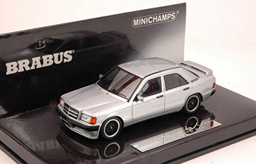 minichamps-pm437032604-brabus-mercedes-190e-1989-silver-143-modellino-die-cast