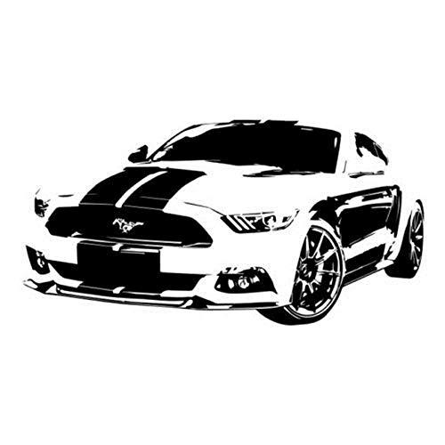 Wandaufkleber Mustang Auto Tapete Einfache Dekoration Wohnzimmer Schlafzimmer Arbeitszimmer Kinderzimmer Diy Karte 44X85Cm Mustangs Wc
