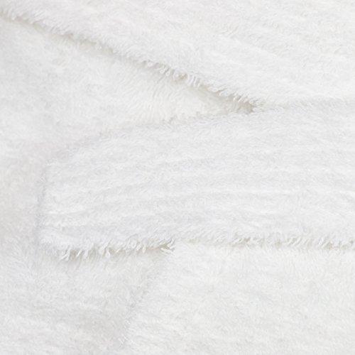 Zollner Bademantel mit Schalkragen, Unisex, Viele Größen, weiß, Reine Baumwolle, Serie Miami