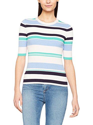 New Look Damen Pullover Multi Stripe Half Sleeve, Multicoloured (MultiColoured), 38 (Herstellergröße: 10) -