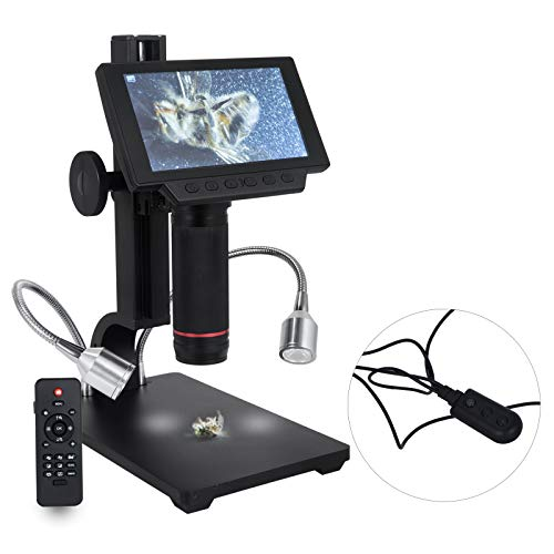 BananaB Screen Digital Microscope 5 Zoll USB Mikroskop 1080P HDMI/TV Video Aufnahme Lupe...