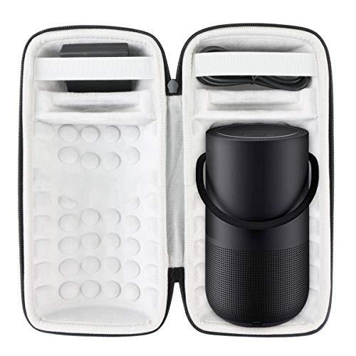 Khanka Dur Cas étui de Voyage Housse Porter pour Bose Portable Home Speaker(White)