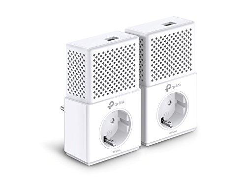 85 Mbit / S Powerline (TP-Link TL-PA7010P-KIT Powerline Netzwerkadapter Set (1000 Mbit/s über Powerline, Steckdose, 2 Gigabit-Port, energiesparend, kompatibel zu allen gängigen Powerline Adaptern, ideal für IPTV) weiß)