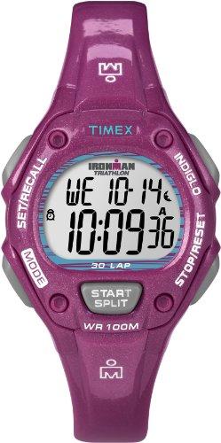 Rot Damen-uhr Timex (Timex Damen-Armbanduhr XS Sport Digital Quarz Plastik T5K688)