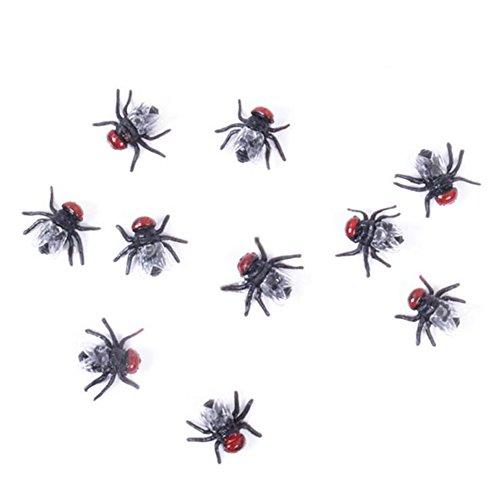 4 Neuheit Fliegen Bugs Home Party Halloween Decor Look real-scary Fly ()