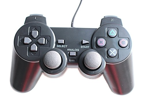 HaoYiShang Dual-Vibration Wired Game Controller kompatibel für Sony PS2 Konsole Videospiel In stock in 10-AUG