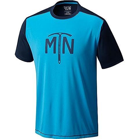 Mountain Hardwear Wicked Logo Short Sleeve T-Shirt X Large Ocean Blue