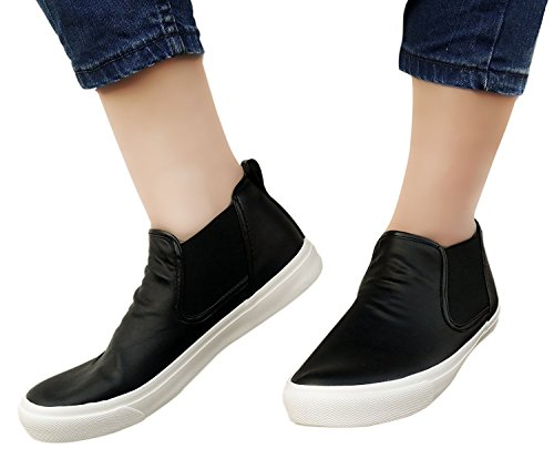 Nimble House ® ™Womens PU Leather Elastic Side Panel Ankle Boots Ladies...