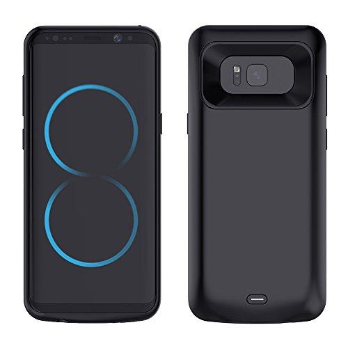 Cover Batteria per Galaxy S8, Mbuynow Cover Ricaricabile da 5000mAh Power Case Custodia Protettiva con Batteria Integrata da 5000mAh per Samsung Galaxy S8