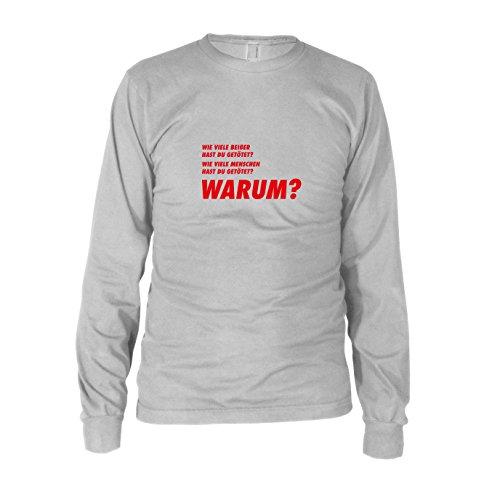 TWD: Drei Fragen - Herren Langarm T-Shirt, Größe: XXL, Farbe: weiß