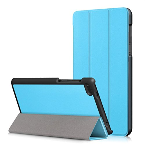 MuSheng(TM) Leather Slim Folding Stand Painted Case Cover For Lenovo Tab 7 Essential TB-7304F/I/X (Sky Blue)