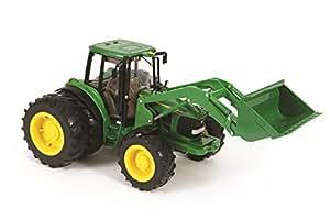 Tomy Big Farm - 42425 - Véhicule Miniature - Tracteur JD 6830S avec Chargeur