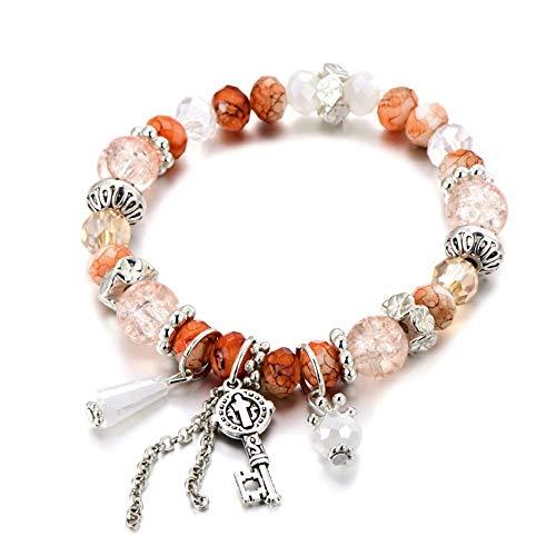 WL Armband Armkette Böhmische Gold Charm Armband Armreifmit Shell und Starfish Crystal Ball Frauen Hochzeitsgeschenk