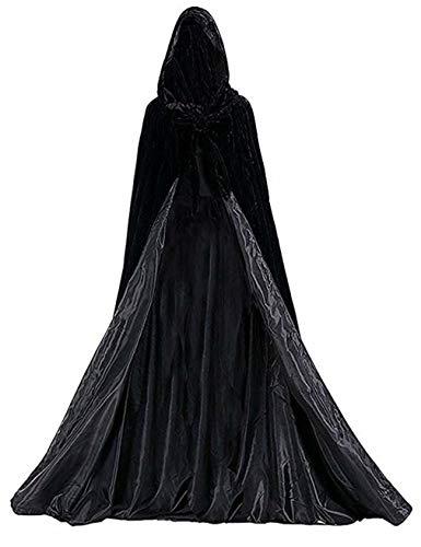 Special Bridal Capas Unisex para la Fiesta de Halloween Capas Abrigo Largo de Terciopelo Con Capucha para adultos