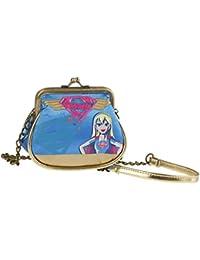 Karactermania Dc Super Hero Girls Supergil Bolso Bandolera, 11 cm, Azul