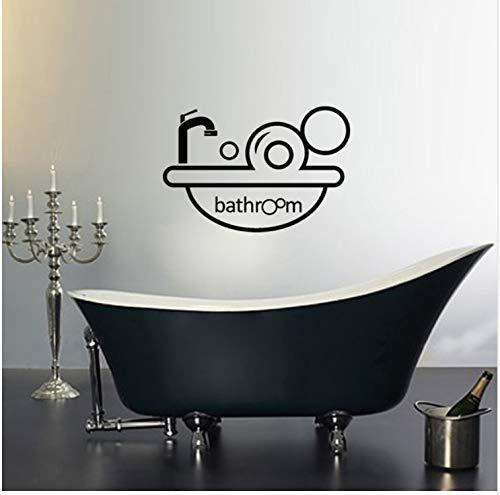 fqz93in Tapetensticker Wandbilder Wandtattoos Cartoon Bad Badewanne WC Zitat Aufkleber Tür...