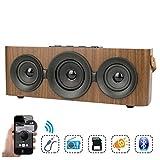 WAOBE Holzmaserung Bluetooth-Lautsprecher