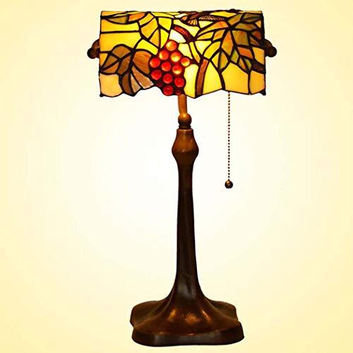 40w Nacht Licht (Tiffany Style Table Lampe, romantisch, Trauben gestählt Glastisch Lichter, Retro Living Room, Schlafzimmer Dekoration Nacht Licht 40W)