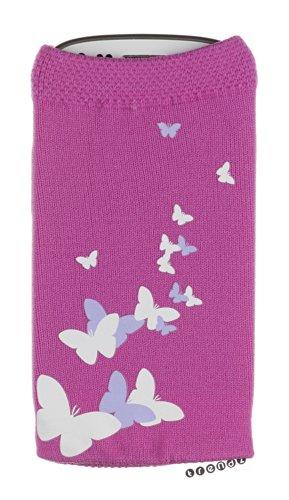 Trendz Universal Smartphone Handysocke - pink mit schmetterlingen