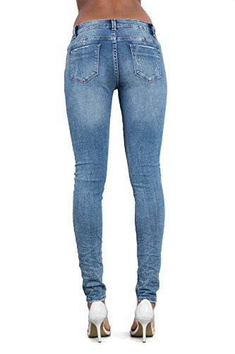 LustyChic - Jeans - Femme Blue Faded Rip Cut