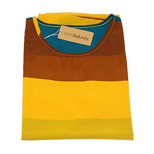 Oksakady Frauen Lose T-Shirt Chiffon Batwing Ärmel Bluse Plus Size Tunika BOHO-13