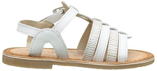 Aster Carly, Sandales Bout Ouvert Fille Blanc (Blanc)