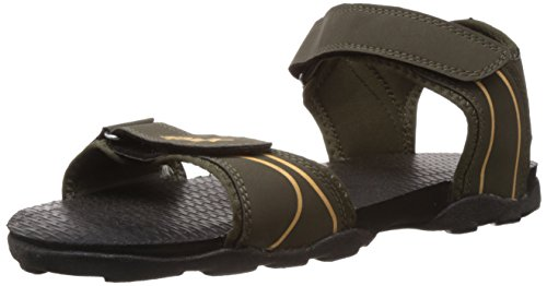 Sparx Men's Olive and Yellow Athletic and Outdoor Sandals - 7 UK/India (41 EU)(SS0703G)  available at amazon for Rs.460