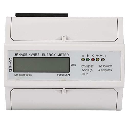 230 / 400V 5-100A Consumo de energía Medidor de kWh digital eléctrico Medidor de KWh de 3 fases con LCD